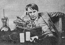 エジソンと蓄音機(1987年改良時の写真)