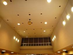 大船ラドン温泉大宴会場の天井