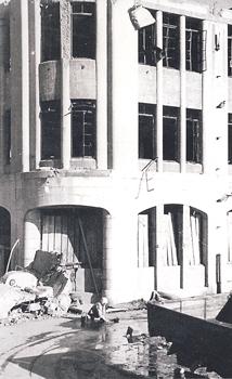 被爆直後の燃料会館