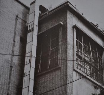 広島赤十字病院 被爆当時のモニュメント部分
