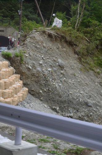 2011年産屋沢土石流の跡
