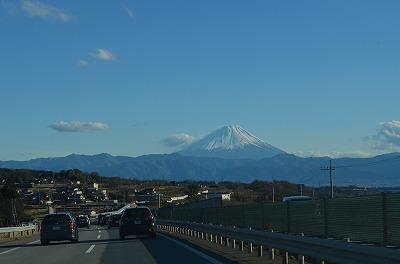 中央道と富士山