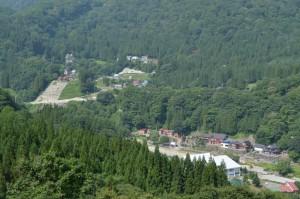 秋山郷 屋敷集落付近