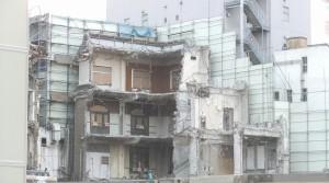 解体寸前の旧歌舞伎座