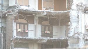 解体寸前の旧歌舞伎座 2階