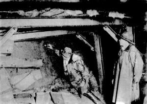 丹那トンネル内で見られた断層鏡面