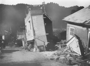 北伊豆地震 古奈温泉付近の被害