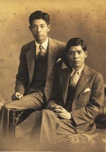 僕の祖父(右)