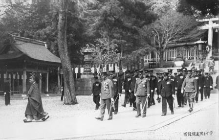 昭和8年福井大演習の昭和天皇 藤島神社行幸その3