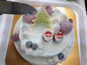 アイスケーキ入刀