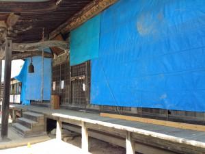 中条日下野 正法寺の被害