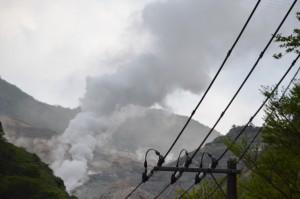 大涌谷の噴気