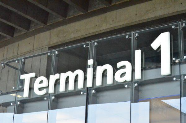 第一ターミナル入口の看板