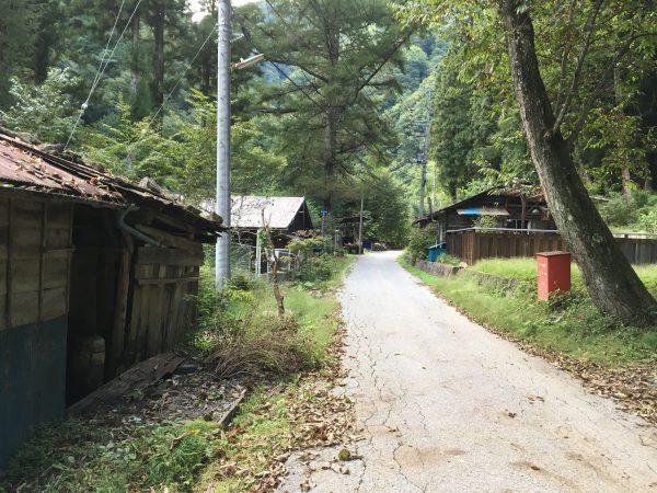 中津川林道 廃屋