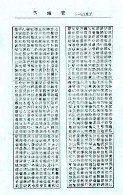 和文タイプライター活字注文書の裏面
