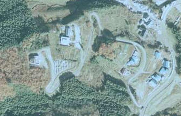 1975年の武尊神社航空写真